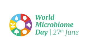 Logo of World Microbiome Day (June 27th, 2021)